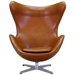 Arne Jacobsen the Egg Chair Elegance Leather Retro