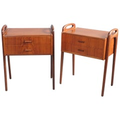 Pair of Nightstands Bedside Tables by Johannes Andersen, Denmark, 1960s