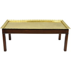English Campaign Style Mahogany and Brass Tray Top Georgian Style Coffee Table