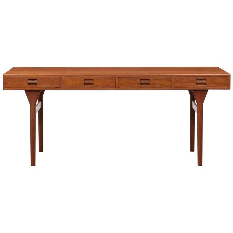 1950s Brown Teak Desk by Nanna Ditzel 'e'