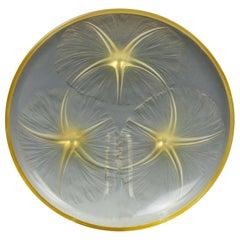 "Rene Lalique Amber Tinted ""Volubilis"" Dish"