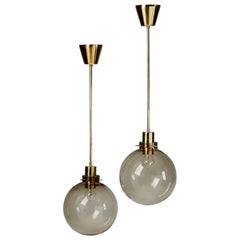 Pair of Ceiling Lamps Designed by Hans-Agne Jakobsson, Sweden, 1960s