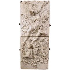 Glazed Terracotta Angel Scene