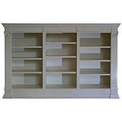 Antique White Bookshelf, Historicism, Oak