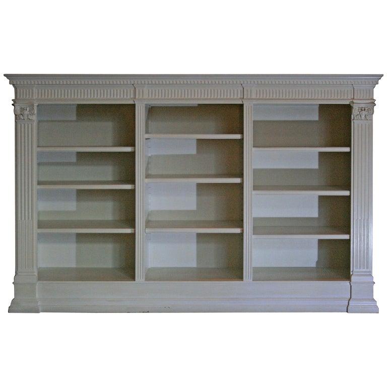 Antique White Bookshelf Historicism Oak For
