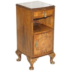 Victorian Walnut Irish Cabriolet Legs Bedside Table Dressing Table Available