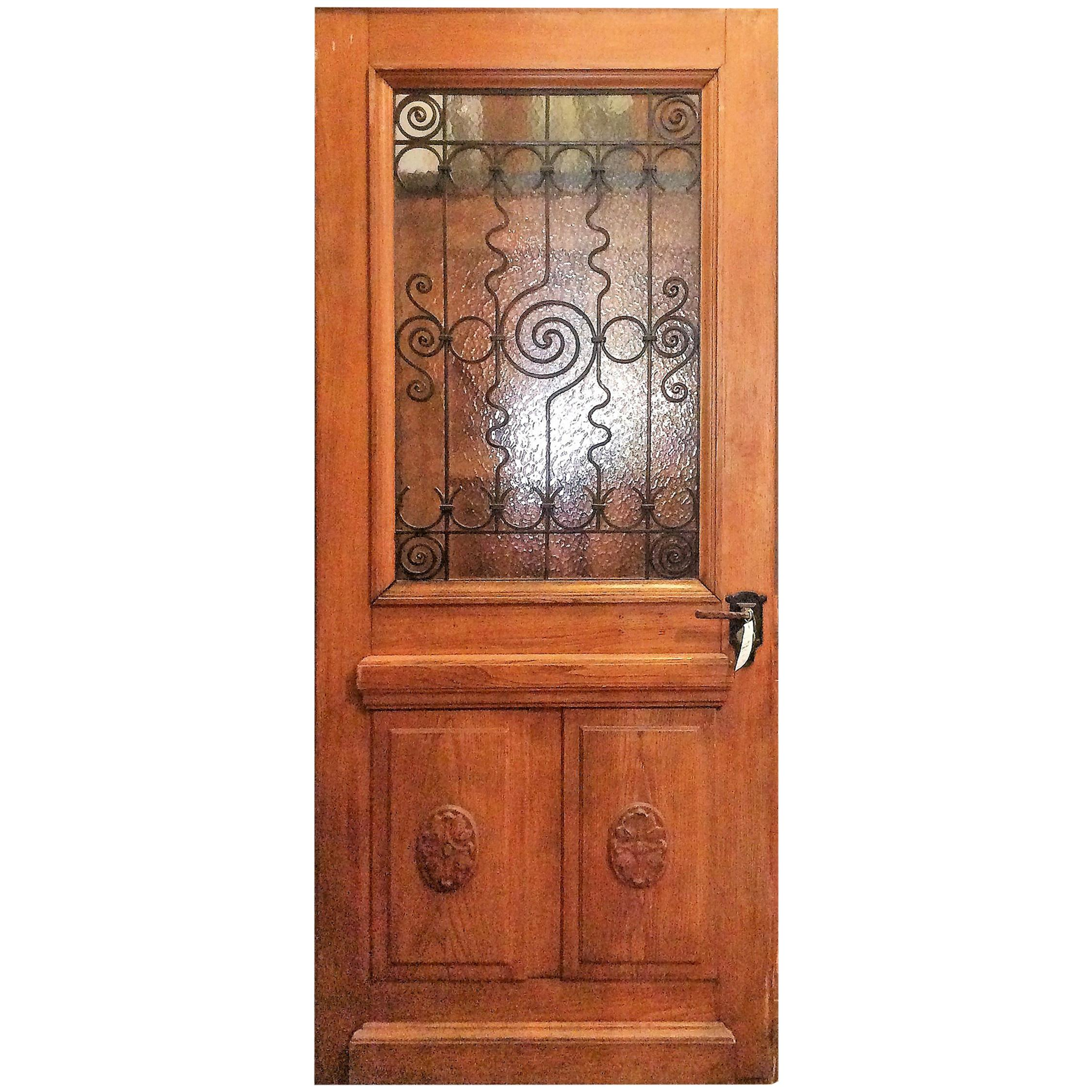 French Doors With Rosettes, Circa 1890 For Sale