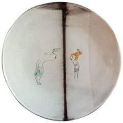 Unique French Artist's Ceramic Dinner Plates