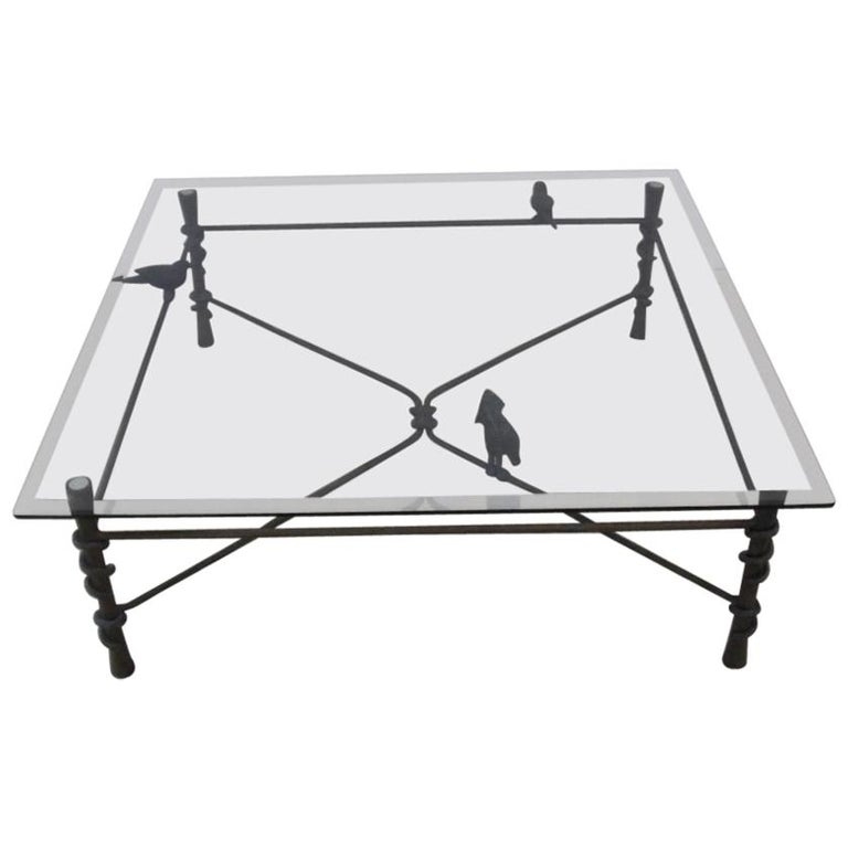Wrought Aluminum Coffee Table: Ilana Goor Iron And Brass Coffeee Table For Sale At 1stdibs