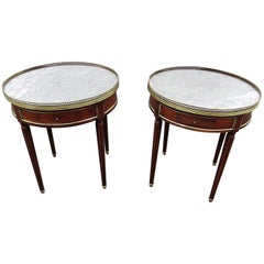 Pair of Louis XVI Style Bouillotte Tables
