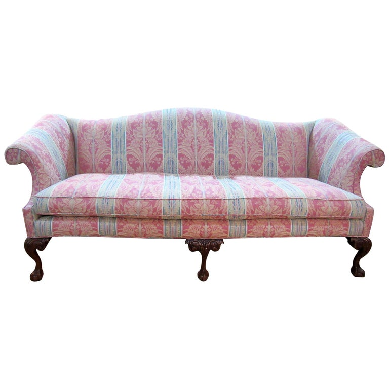 20th Century Chippendale Style Camelback Sofa