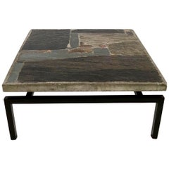 Early Brutalist Paul Kingma Coffee Table, 1964, Authentic Double Signed Piece