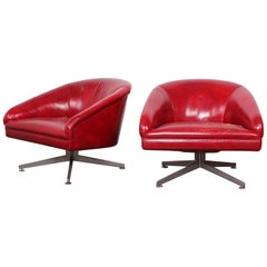 Pair of Ward Bennett Lounge Chairs