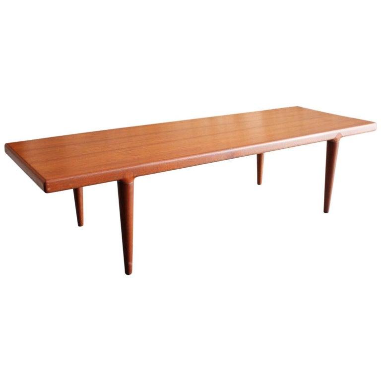 Danish Teak Coffee Table By Mk Denmark For