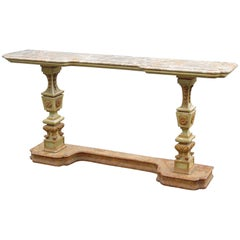 Florentine Marble-Top Console Table
