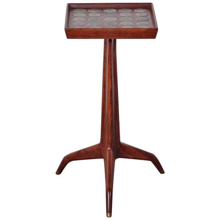 Edward Wormley Dunbar Janus Side Table with Natzler Tiles