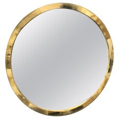 Polished Horn Circular Wall Mirror