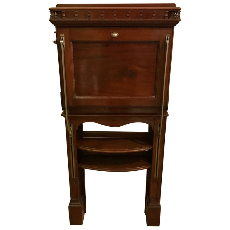 Antique Campaign Style Wall Desk For Sale - Antique Campaign Style Wall Desk For Sale At 1stdibs