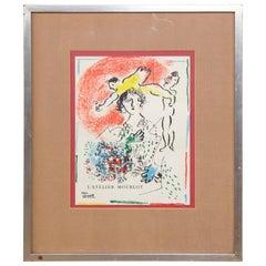 "Original lithograph by Chagall ""Pour Fernand Mourlot II"""