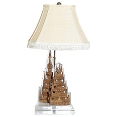 Antique Pagoda Fragments Made into a Table Lamp