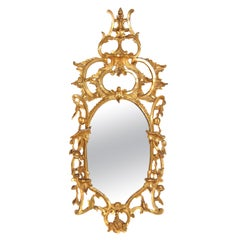 George III Chippendale Style Pier Glass Mirror
