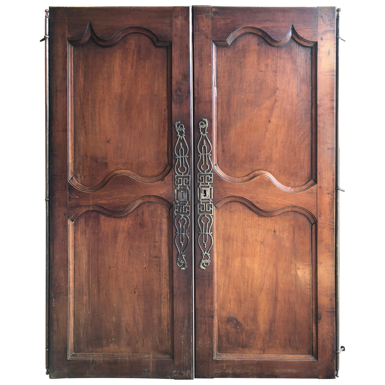 """Pair of 18th Century French Doors, 62"""" high x 24"""" w each door"""