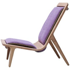 LayAir 01 High Backed Armchair in Cherrywood and Chantal Fabric