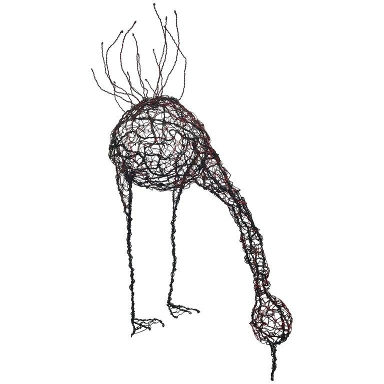 """Mid-Century Modern Wire Sculpture """"Chicken"""""""