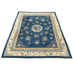 Large Antique Indo-China Art Deco Rug Antique Chinese Rugs and Carpets