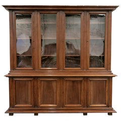 Grand 19th Century French Napoleon III Period Walnut Bibliotheque or Bookcase