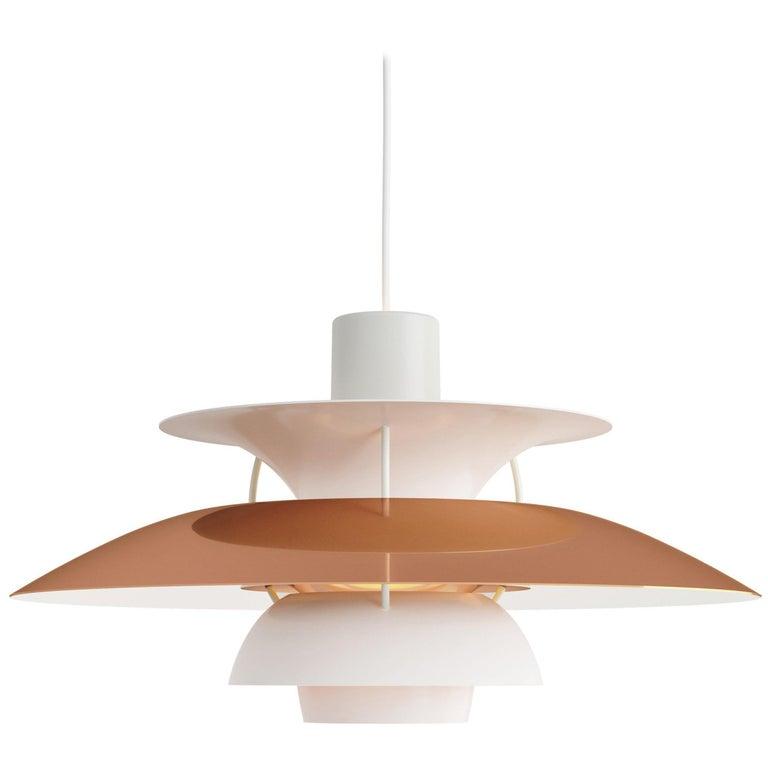 Poul Henningsen PH 5 Copper Pendant for Louis Poulsen For Sale