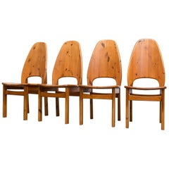 Rainer Daumiller Style Solid Pine Dining Chairs