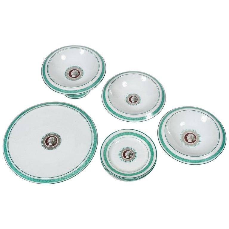 Luncheon Set of Porcelain Serving Pieces