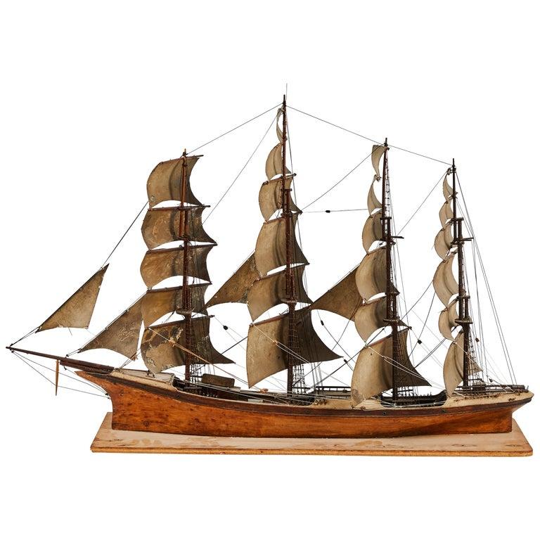 Wooden Handmade Model of Sail Boat