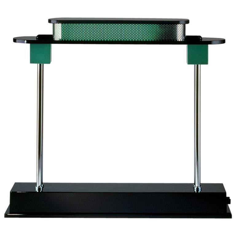 Artemide Pausania LED Table Lamp in Green by Ettore Sottsass