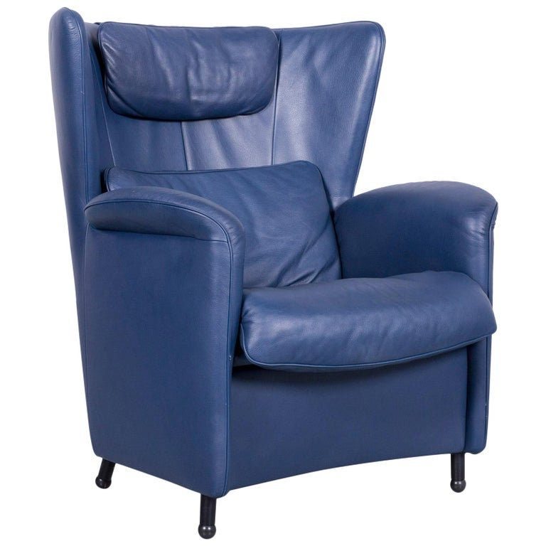 De Sede DS 23 Leather Armchair Blue One-Seat