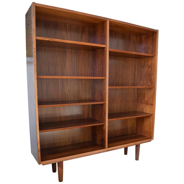 Danish Poul Hundevad Rosewood Bookshelf 1960s For Sale