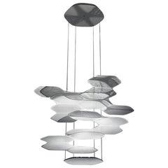 Artemide Space Cloud LED Pendant Light in Grey by Ross Lovegrove