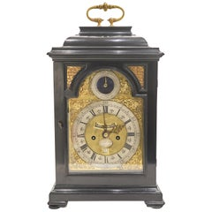 English George I Ebonised Bracket Clock by Charles Goode of London