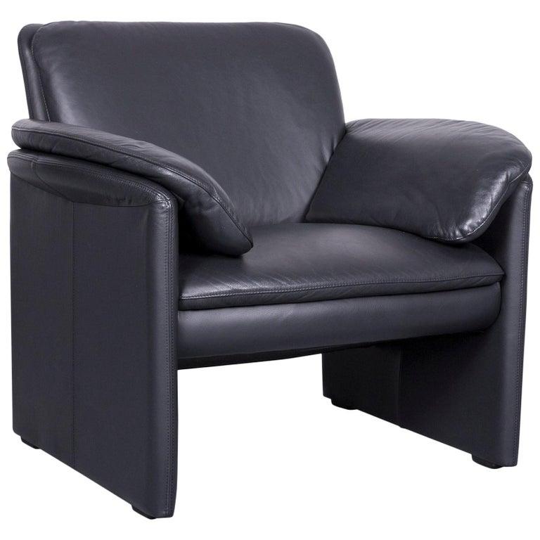Leolux Catalpa Designer Armchair Leather Black Chair One-Seat