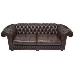 Comfortable Chesterfield Teardrop Arm Expresso Brown