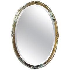 Edwardian Brass Framed Mirror