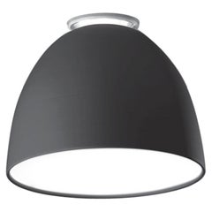 Artemide Nur Mini LED Dimmable Ceiling Light in Anthracite Grey by Ernesto Gismo