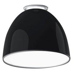 Artemide Nur Mini LED Dimmable Ceiling Light in Glossy Black by Ernesto Gismondi