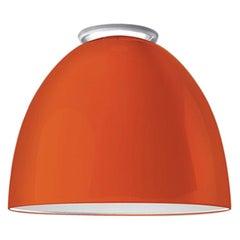 Artemide Nur Mini LED Dimmable Ceiling Light in Glossy Orange by Ernesto Gismond