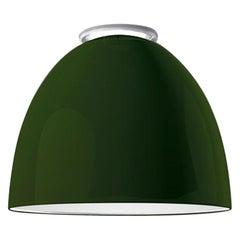 Artemide Nur Mini LED Dimmable Ceiling Light in Glossy Green by Ernesto Gismondi