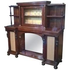 Regency Rosewood Inverted Breakfront Salon Cabinet