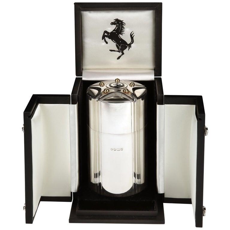 Ferrari cigar canister by Asprey & Co.