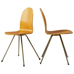Pair of Chairs The Tongue Designed by Arne Jacobsen for Fritz Hansen, 1955