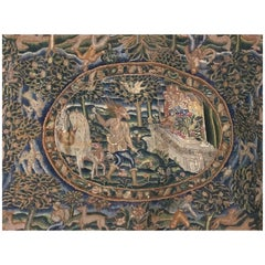 """English Table Tapestry """"Artemis & Acteon"""""""